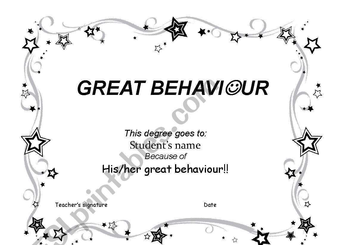 Behaviour Degree