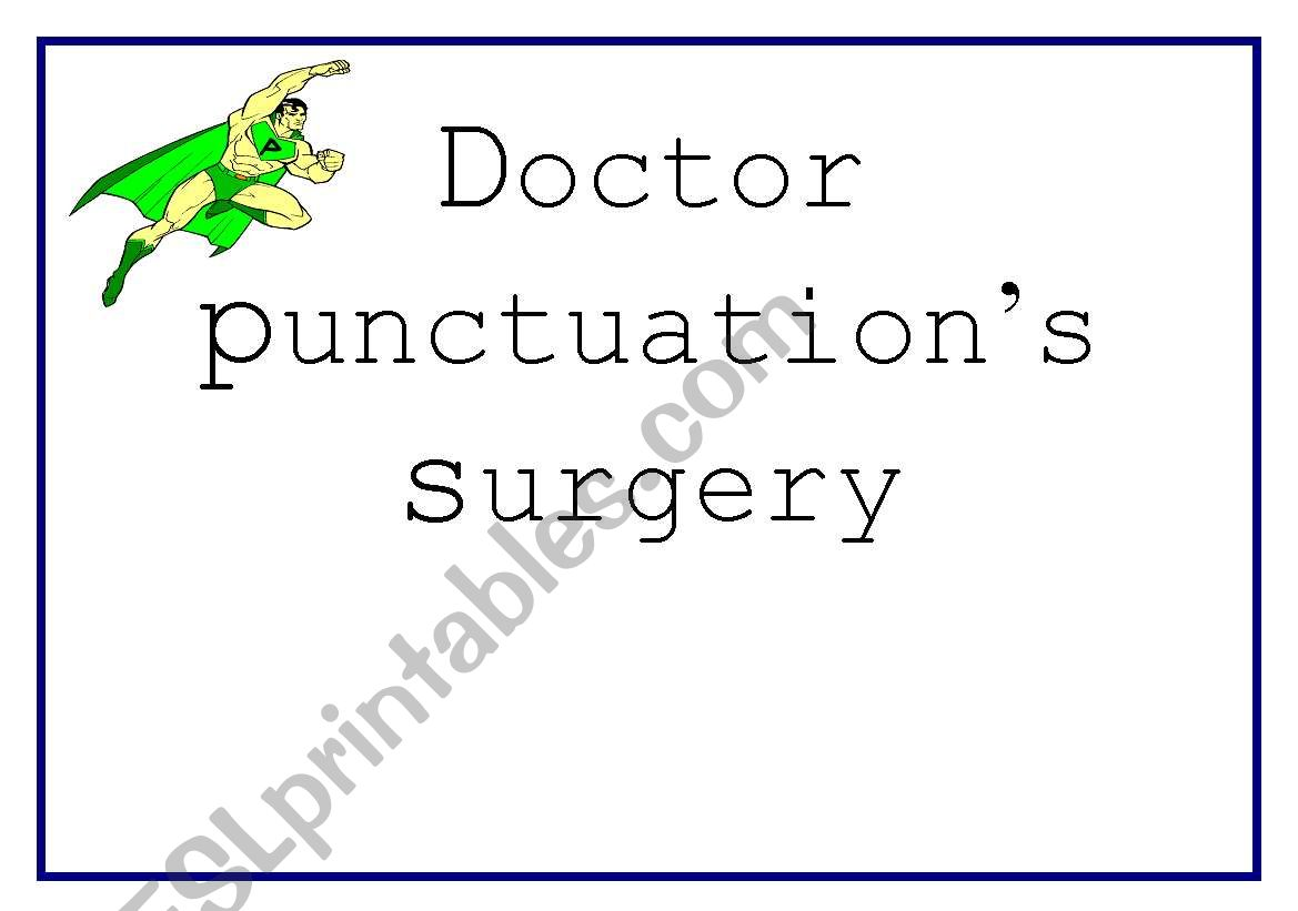 English Worksheets Doctor Punctuation Surgery