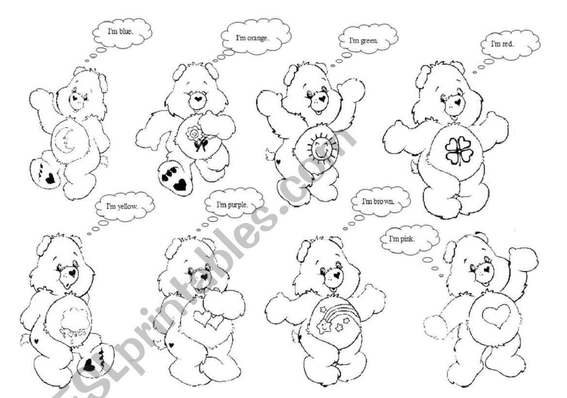 The Care Bears And Colours