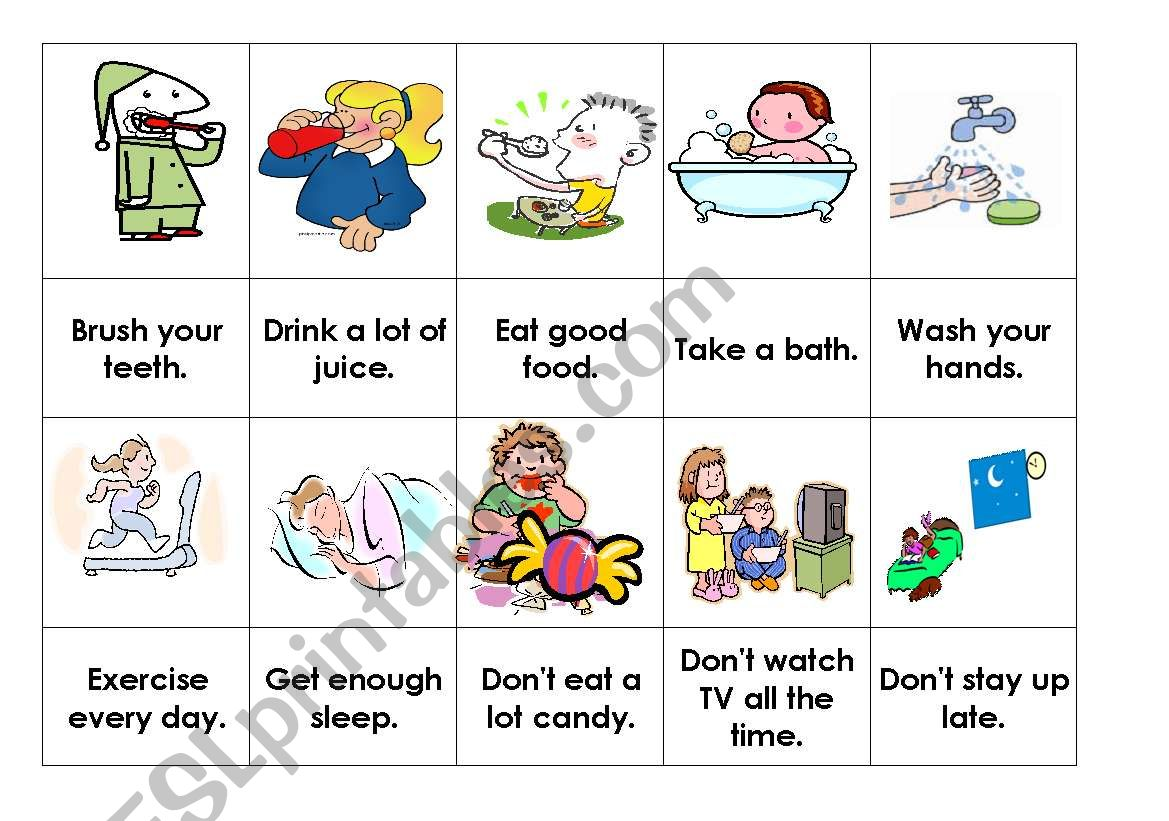 Health Habits Snap Activity