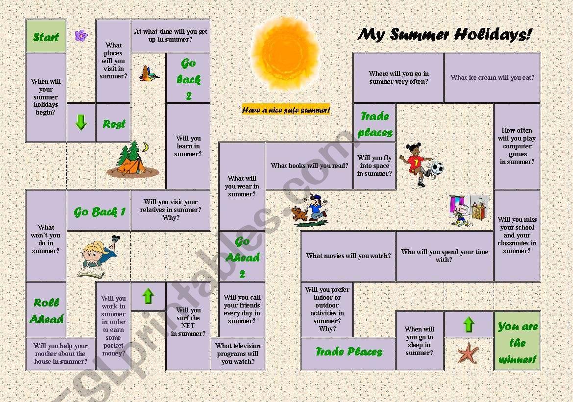 Future Simple Board Game