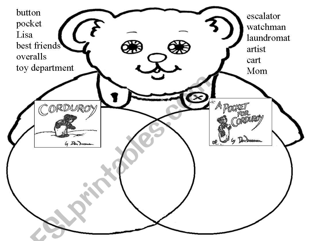 English Worksheets Corduroy Venn