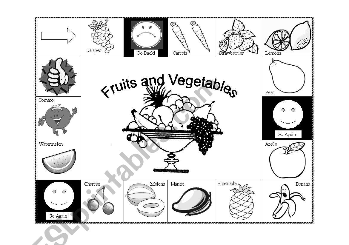 Fruits And Vegetables Board Game