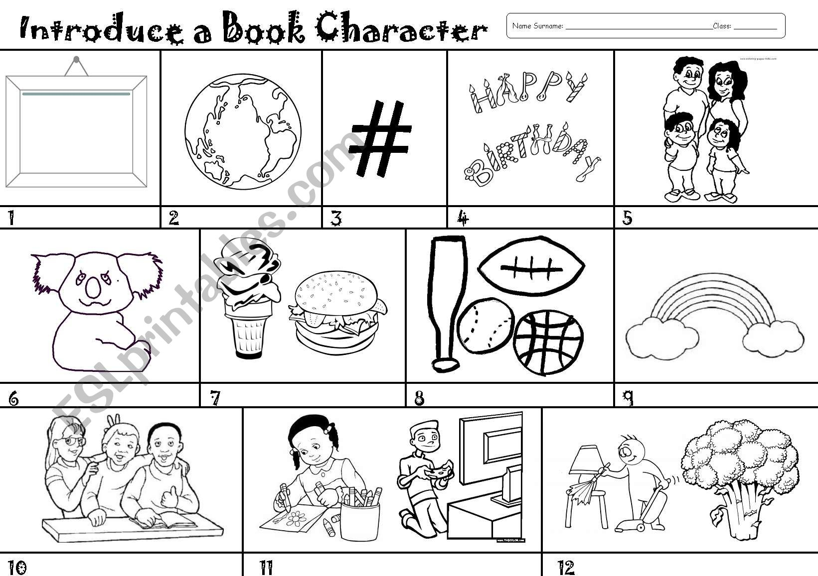 Introduce A Book Character Or A Classmate Or A Friend