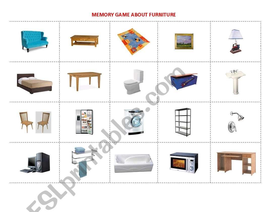 Furniture Memory Game