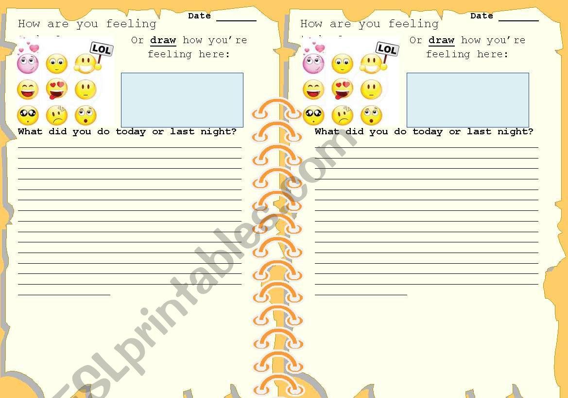 English Diary Journal
