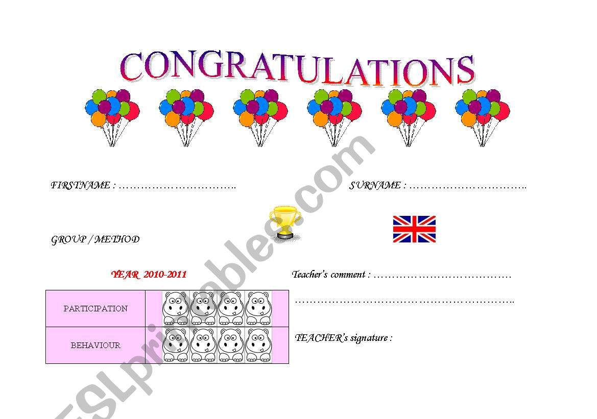 English Worksheets Very Young Learner End Of The Year
