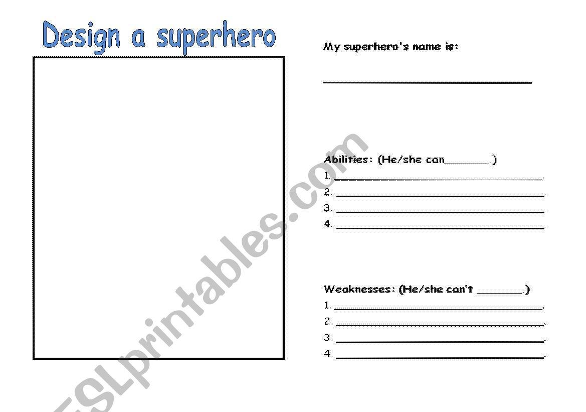Superhero Activity