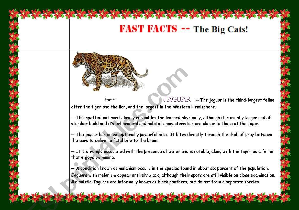 Go Green Fast Fact Sheet 2