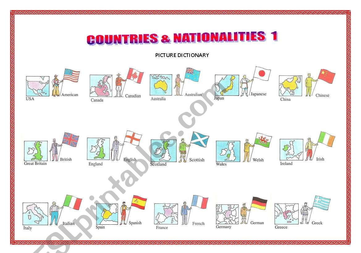 Countries Amp Nationalities 1