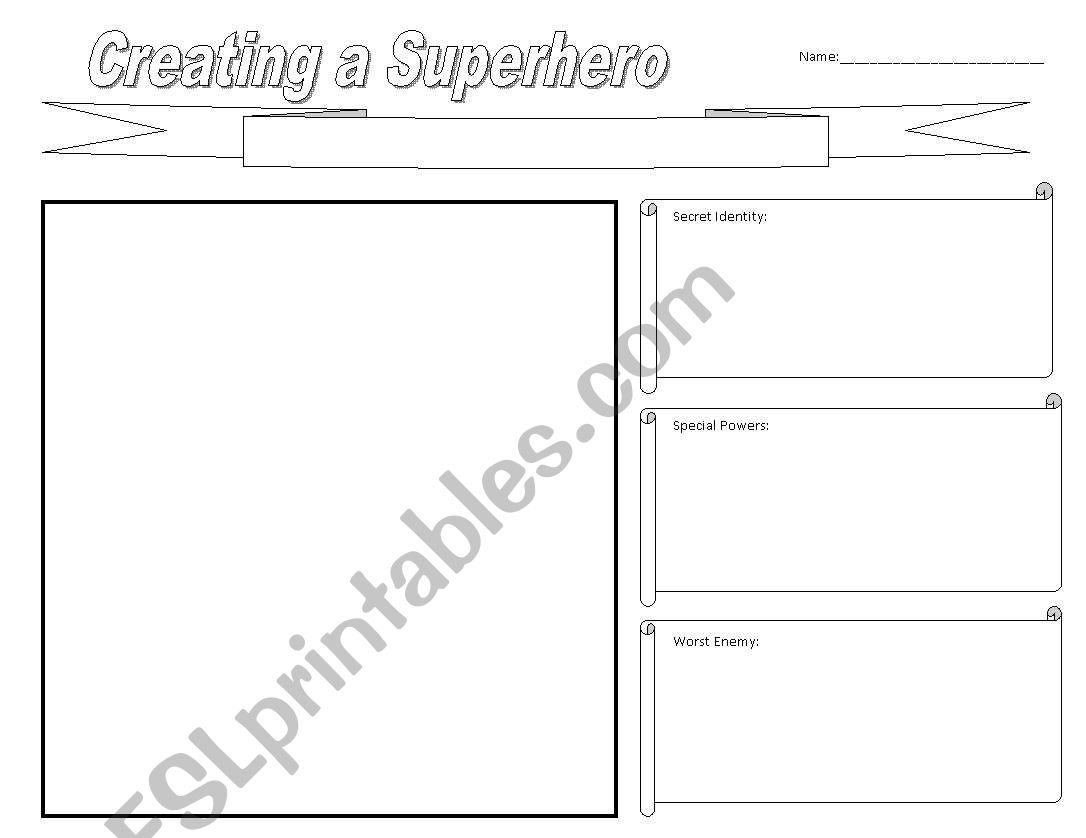 Creating A Superhero