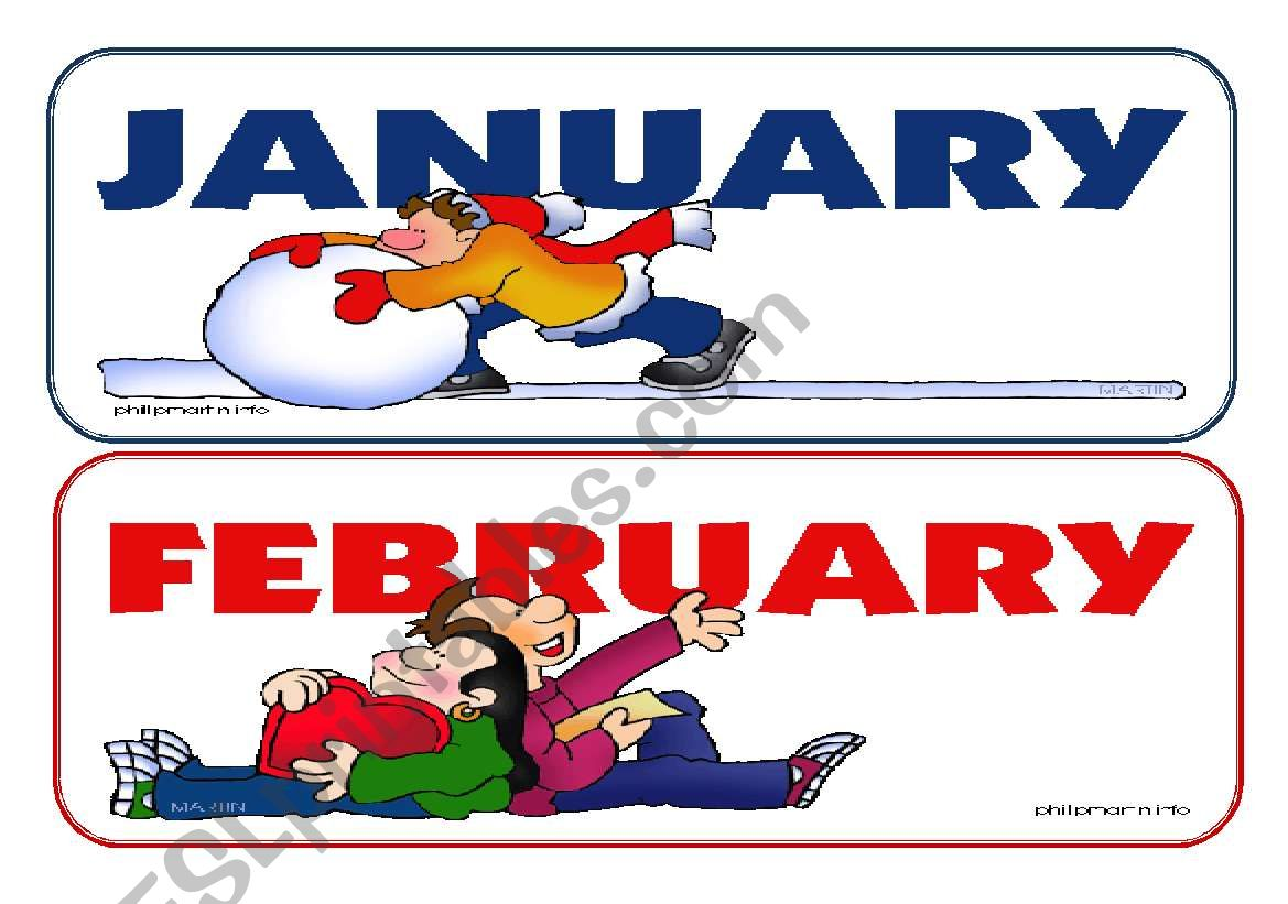 Months Flash Cards