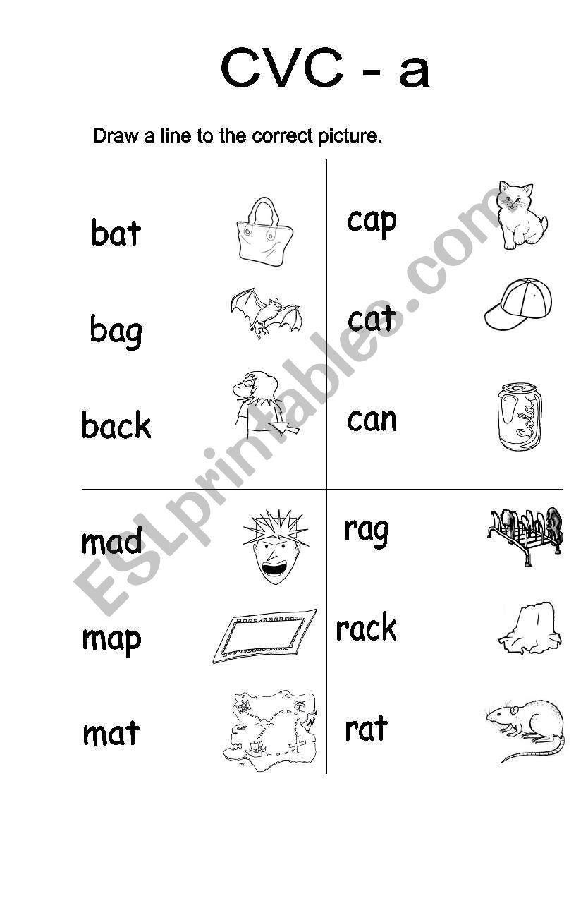 Cvc A Vocabulary Words