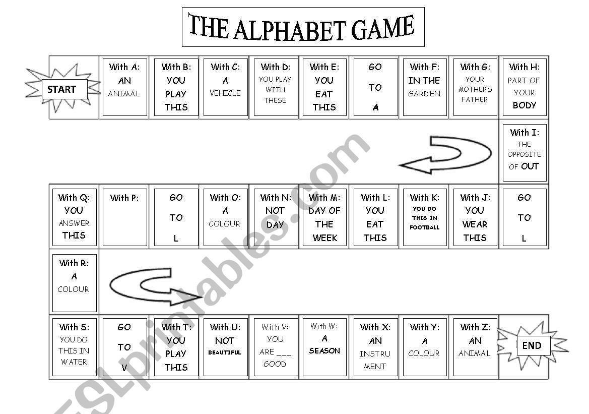 My Alphabet Game