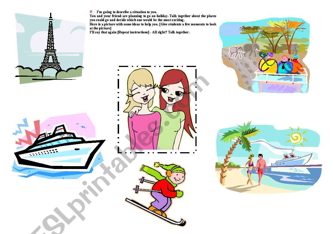 English Worksheets Speaking Part Two Visual Stimulus