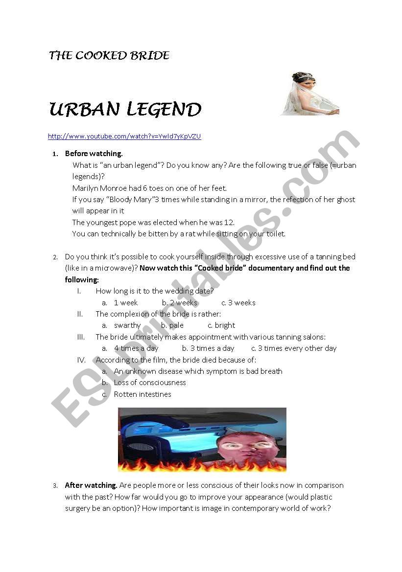 Urban Legends Film Worksheet