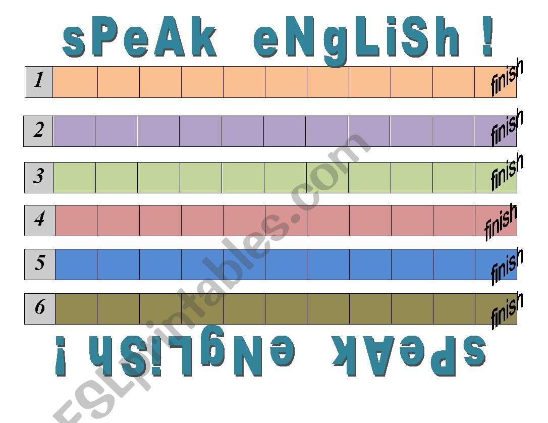 Speak English Board Game