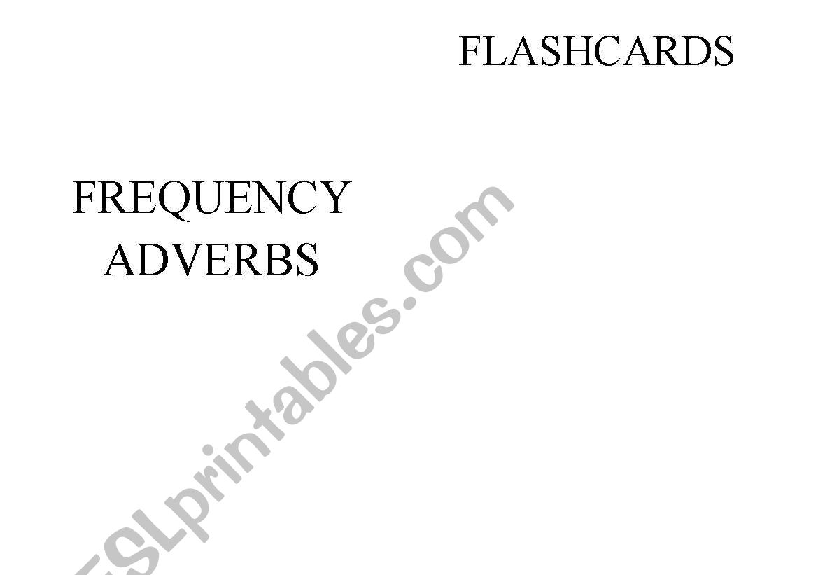 English Worksheets Frequency Adverbs Flashcards