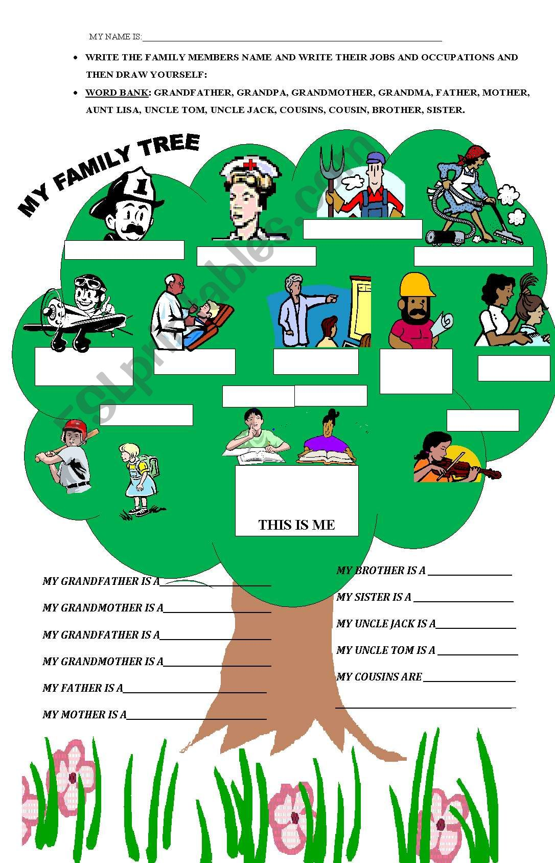 Family Tree With Jobs