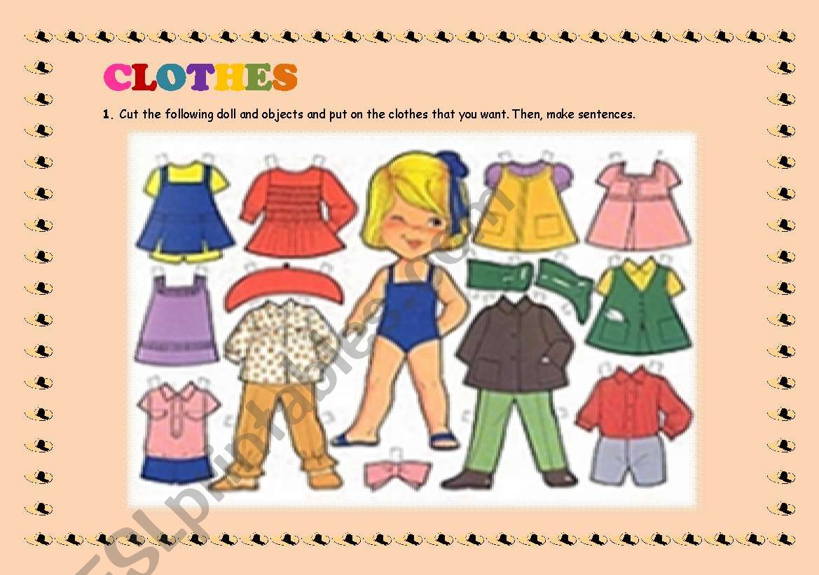 Clothes Vocabulary Funny Exercises For Children
