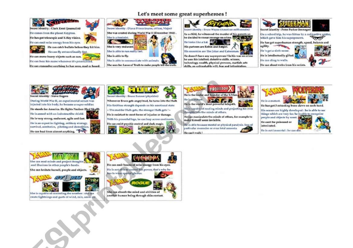 Let S Meet Some Great Superheroes Recap Sheet