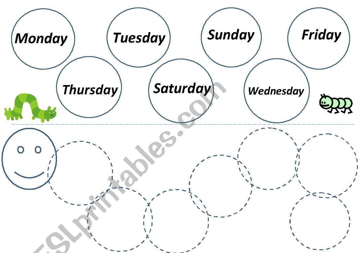 Days Of The Week Caterpillar