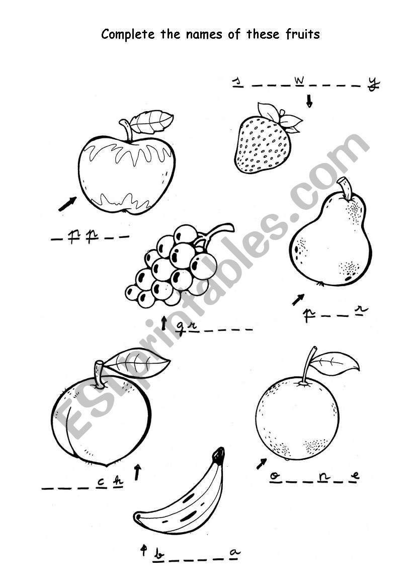 Names Of Fruit
