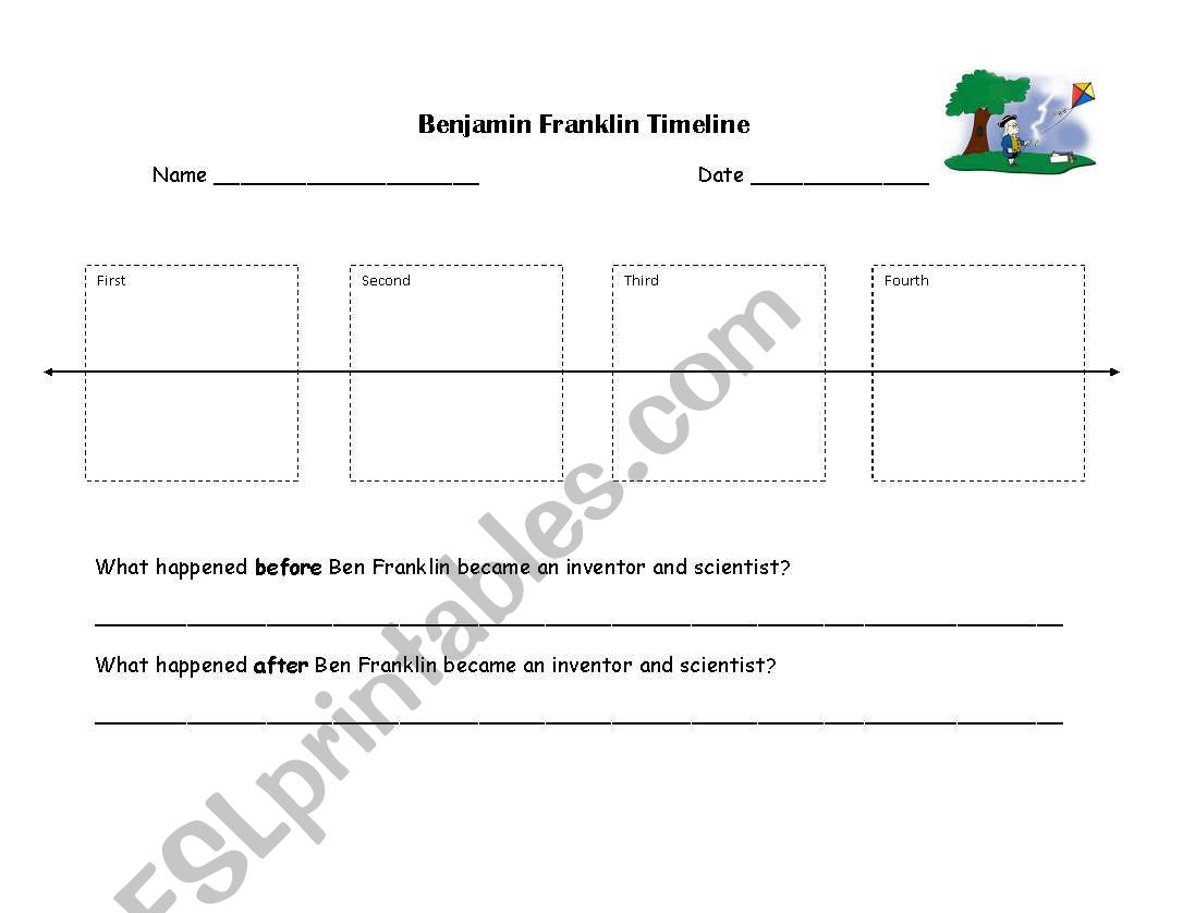 Ben Franklin Worksheet Printable
