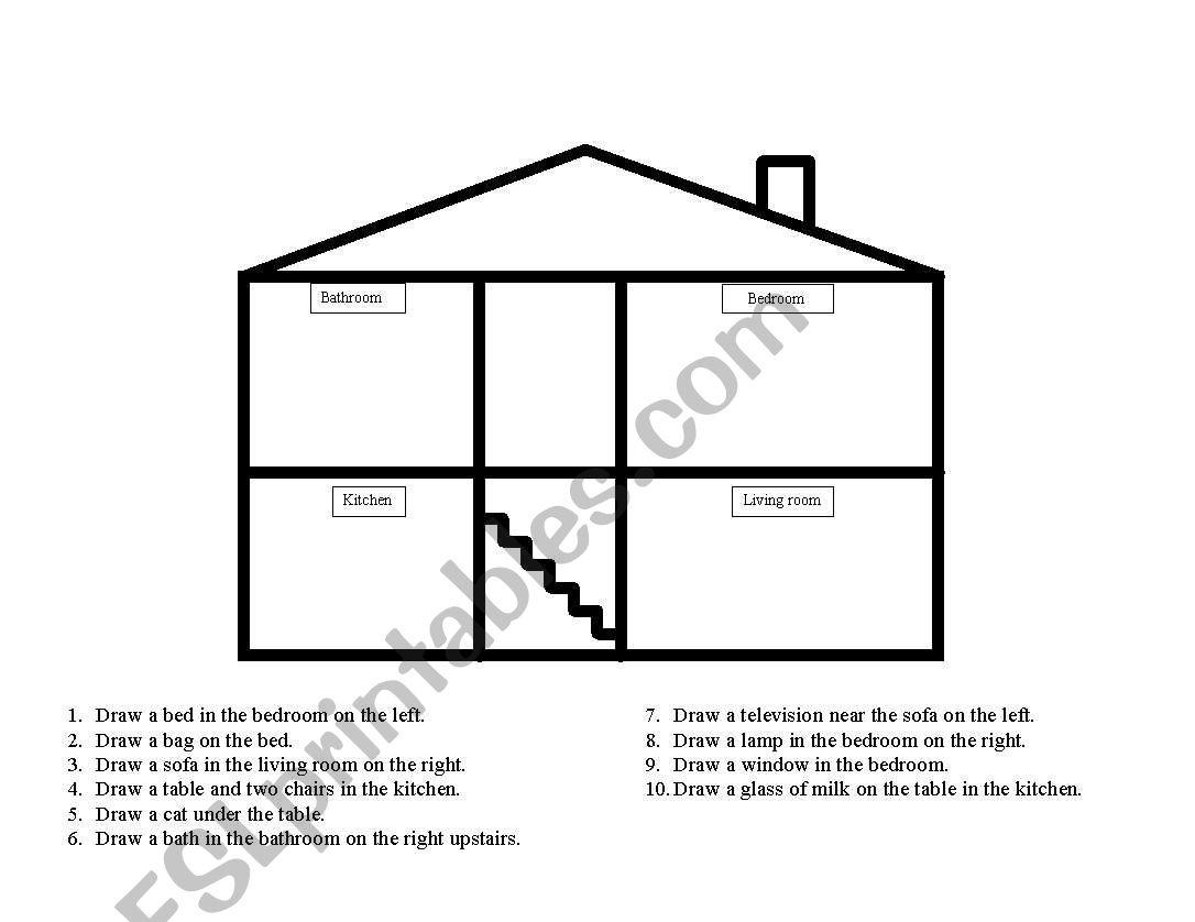 English Worksheets Preposition Test
