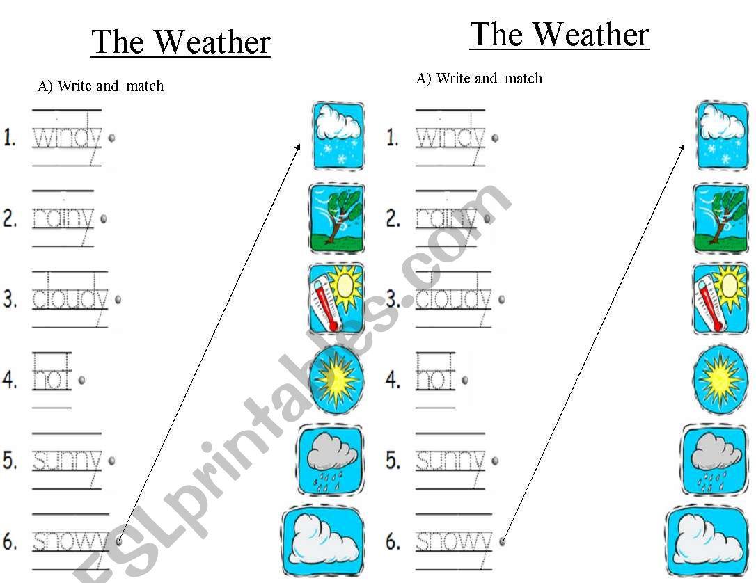 Weather Worksheet