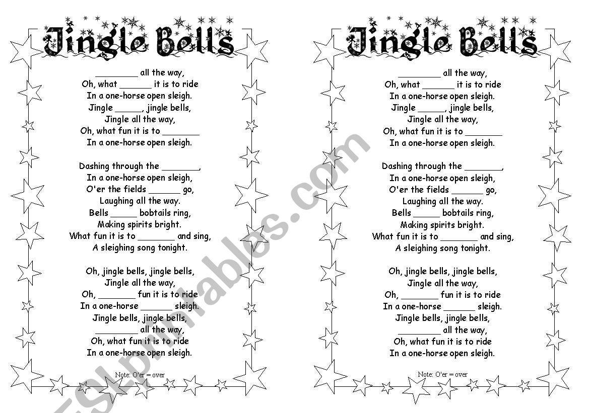 Jingle Bells Gap Fill