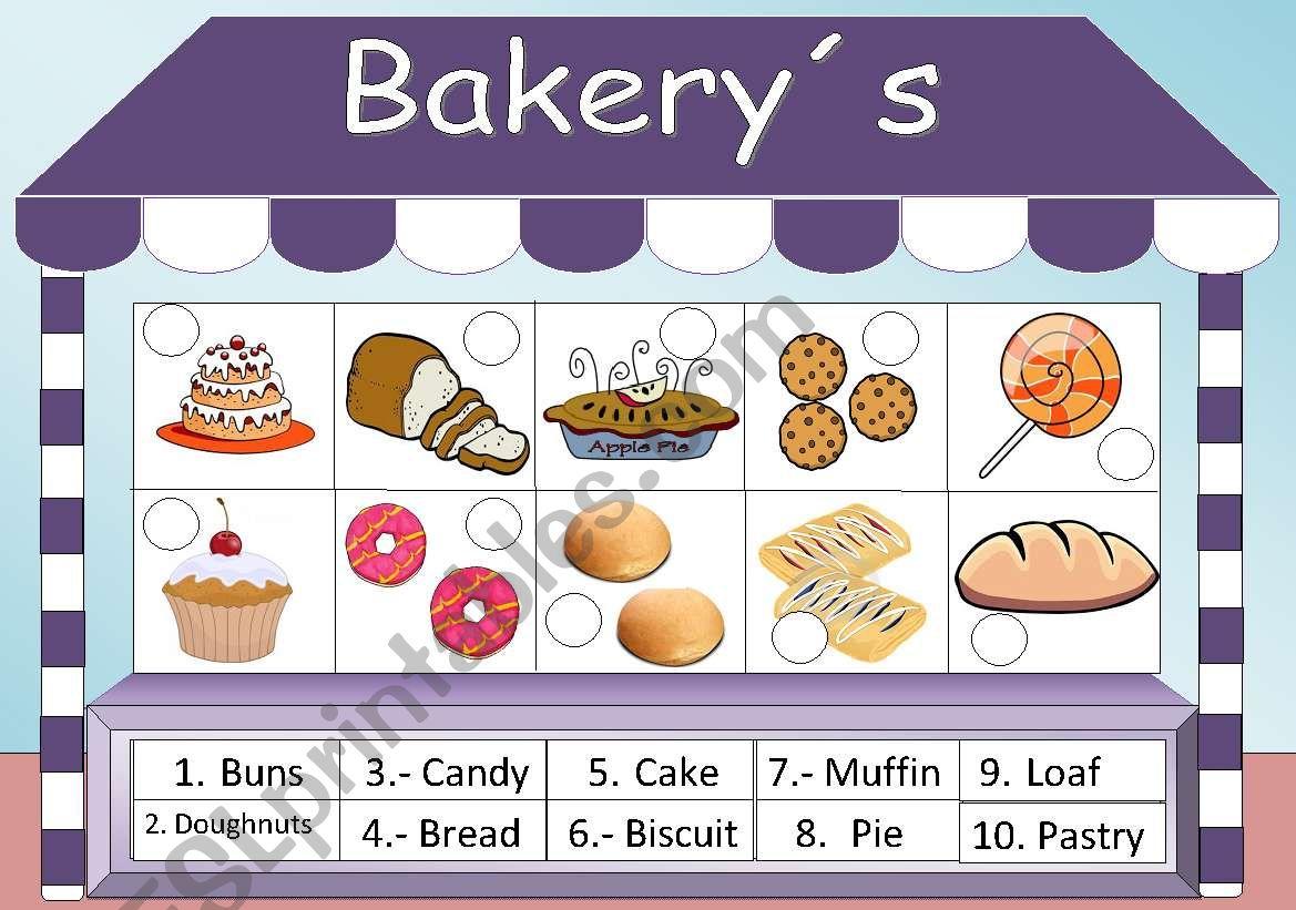 Bakery S Vocabulary