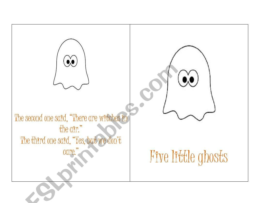 English Worksheets Halloween Story Book