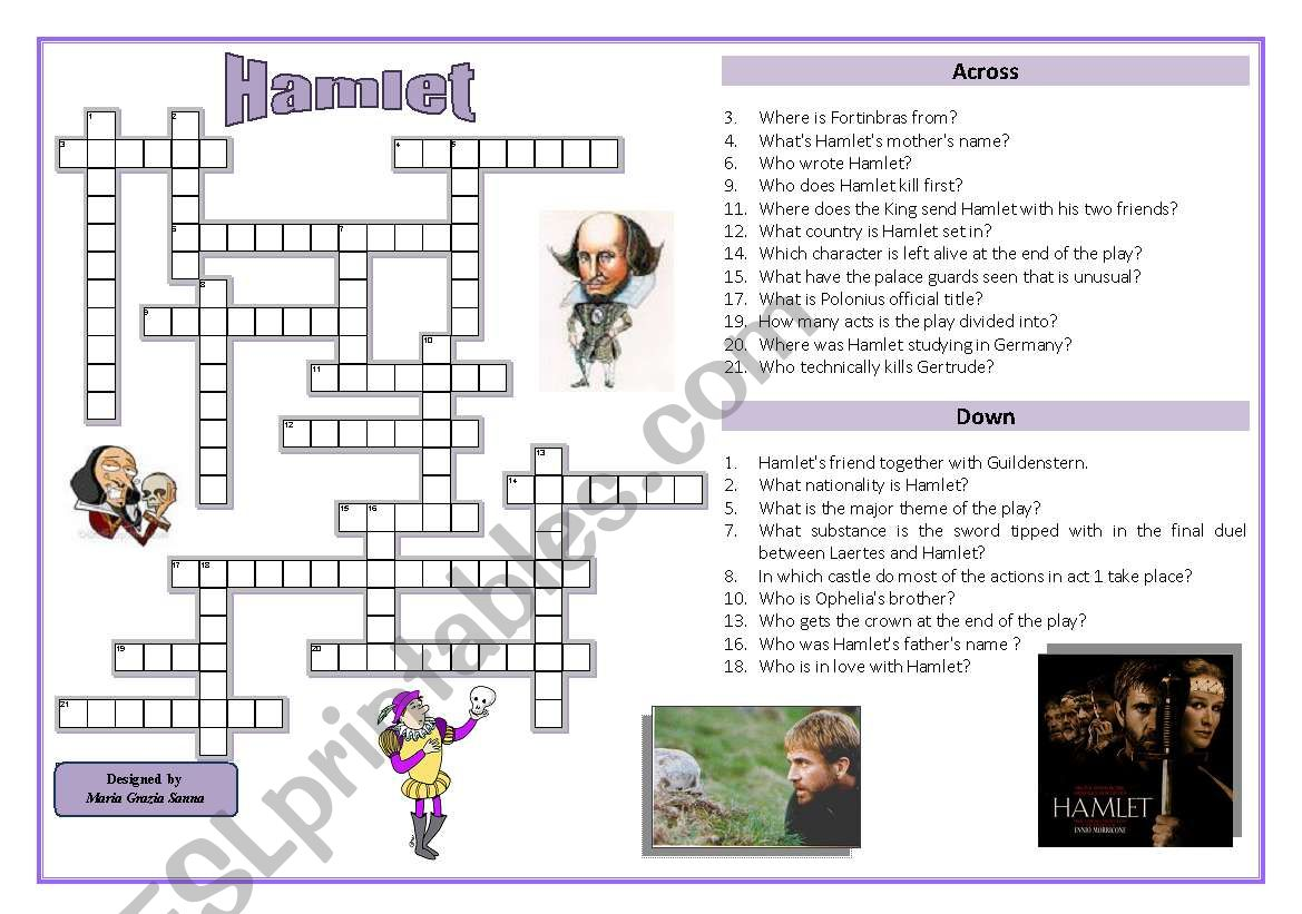 Crossword Puzzle Worksheets