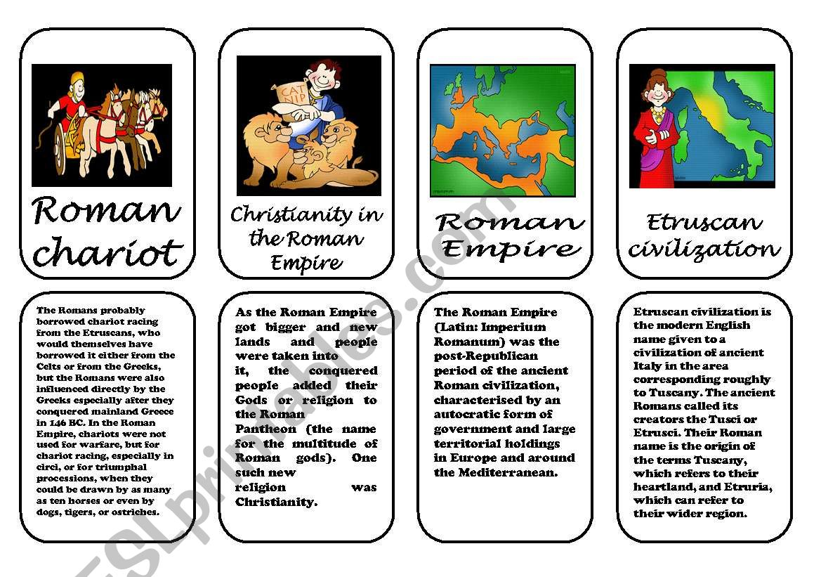 Ancient Rome Speaking Cards 2 3 January