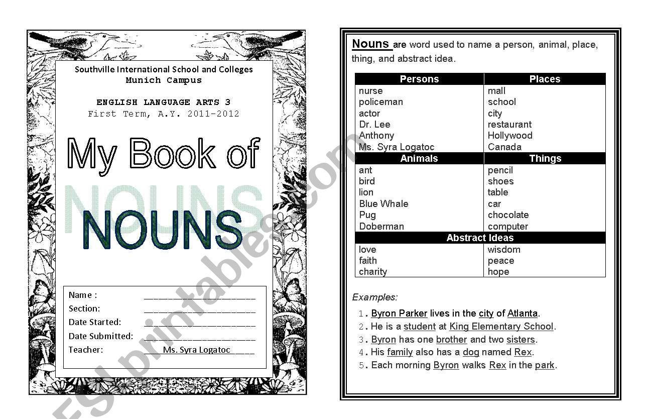 Noun Booklet