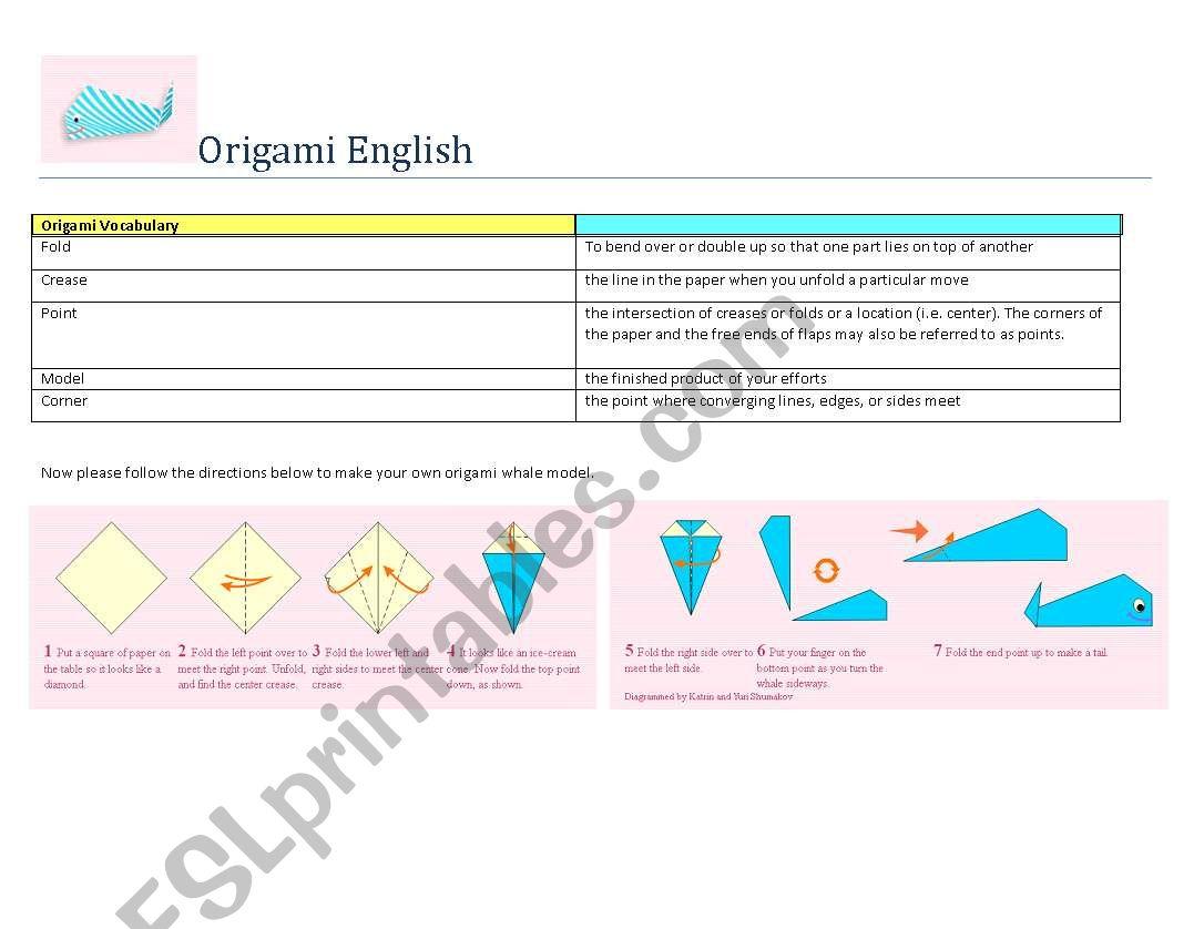 Origami English