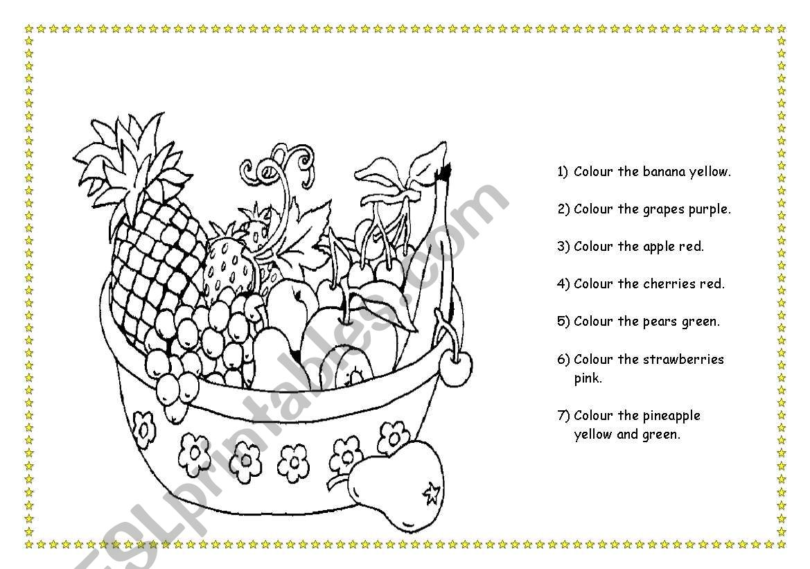 Fruit Colouring Page