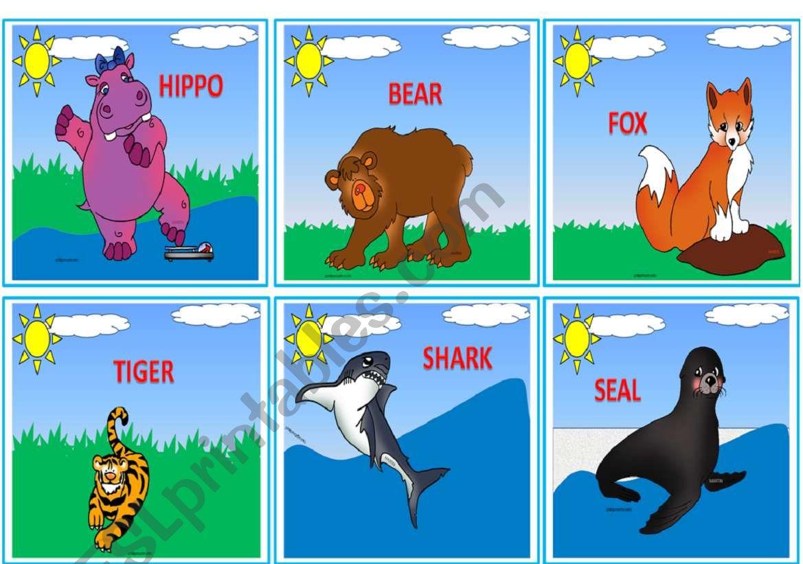 Wild Animals Flashcards 2 3
