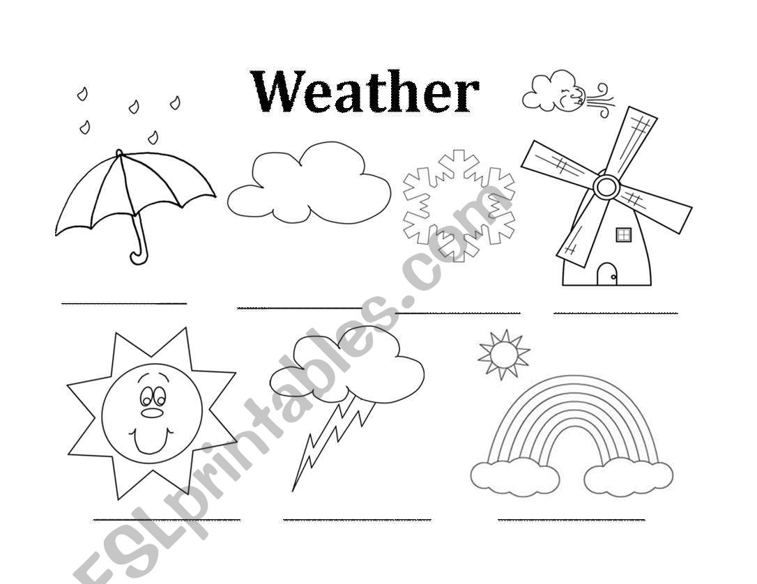 Weather Coloring In Sheet