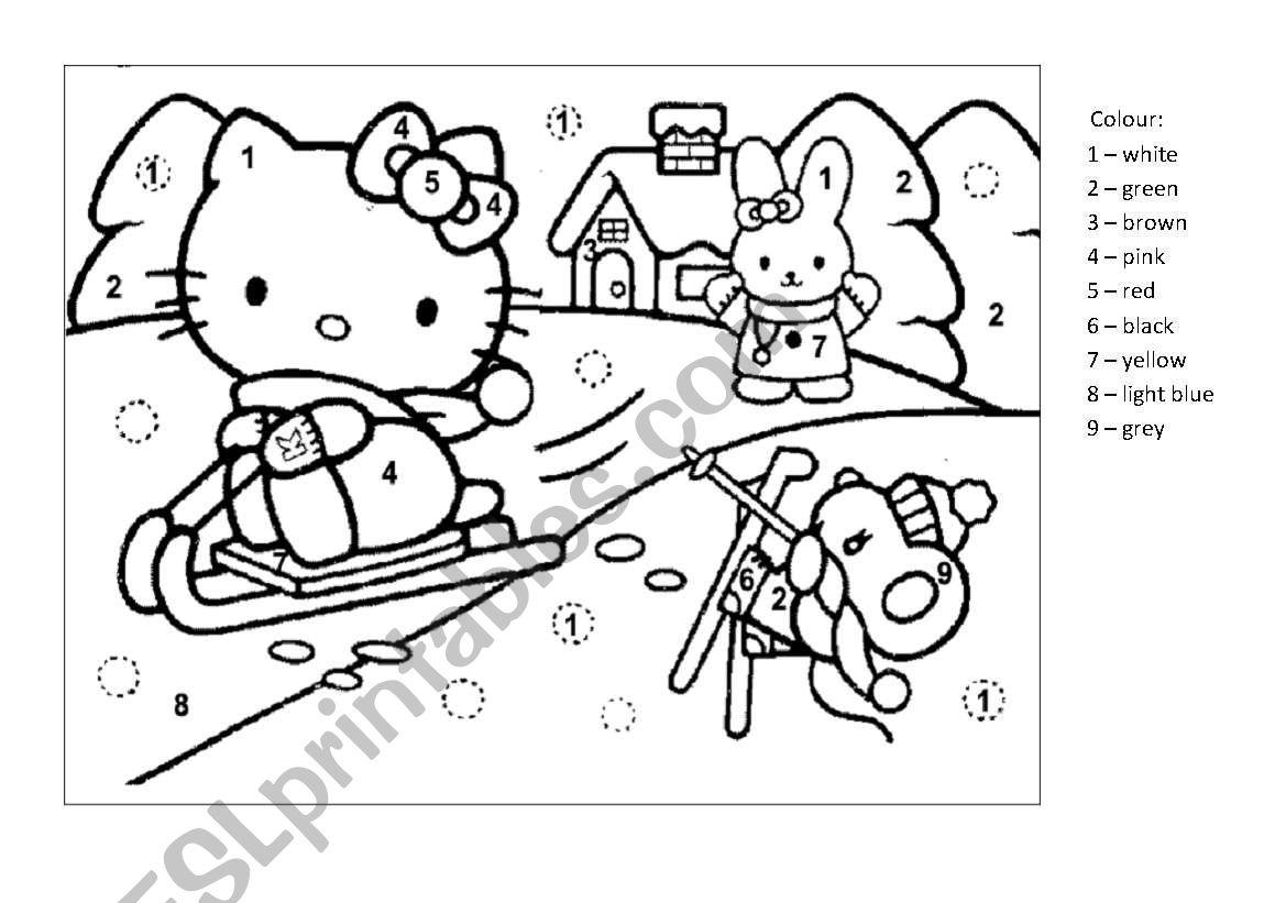 Colouring Hello Kitty