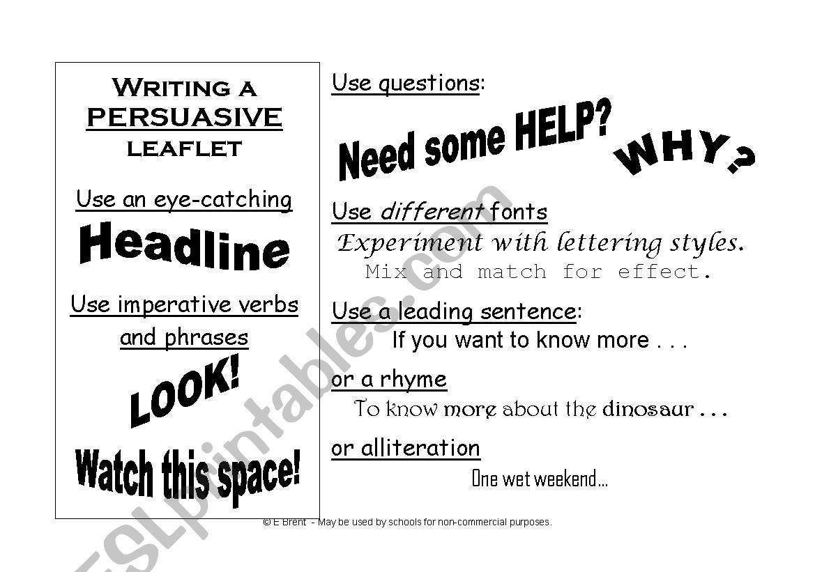 Persuasive Leaflet