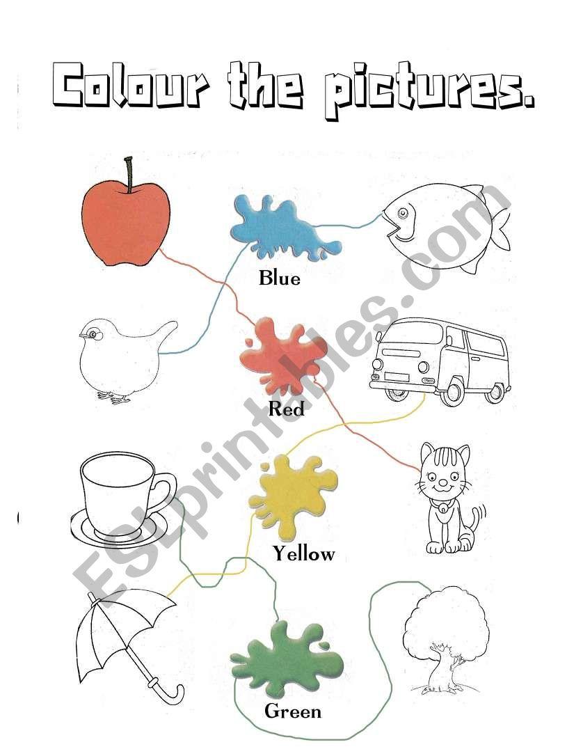 colours - kindergarten - ESL worksheet by douwes | colouring worksheets for kindergarten