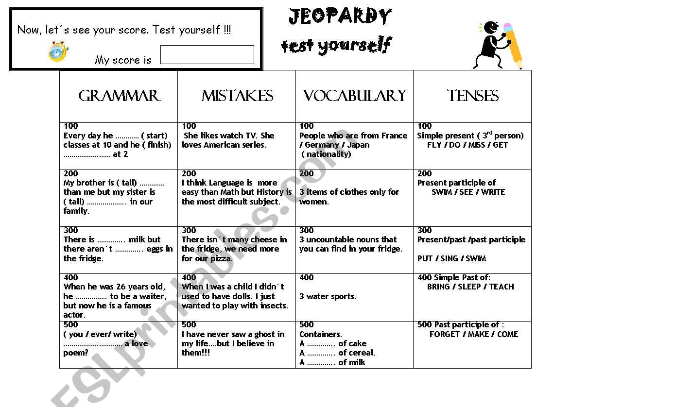 Jeopardy Game Revision To Start Classes