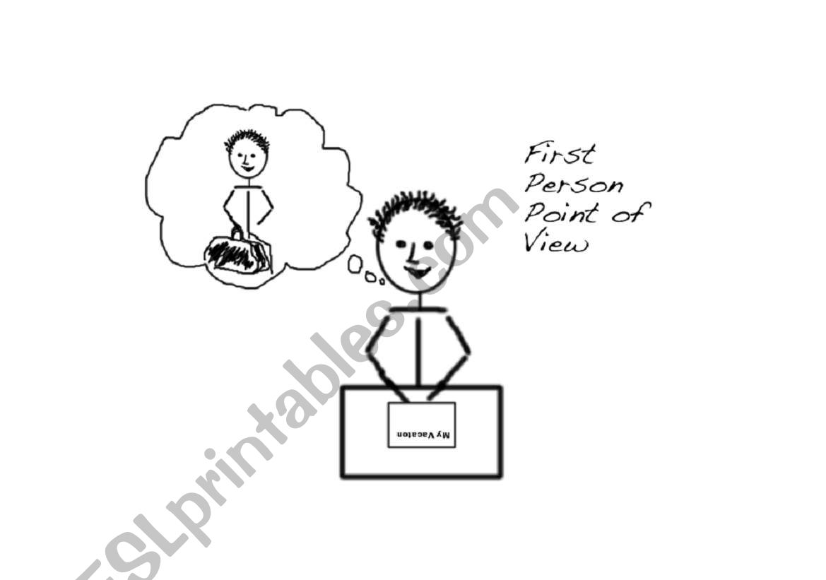 English Worksheets First Person Point Of View