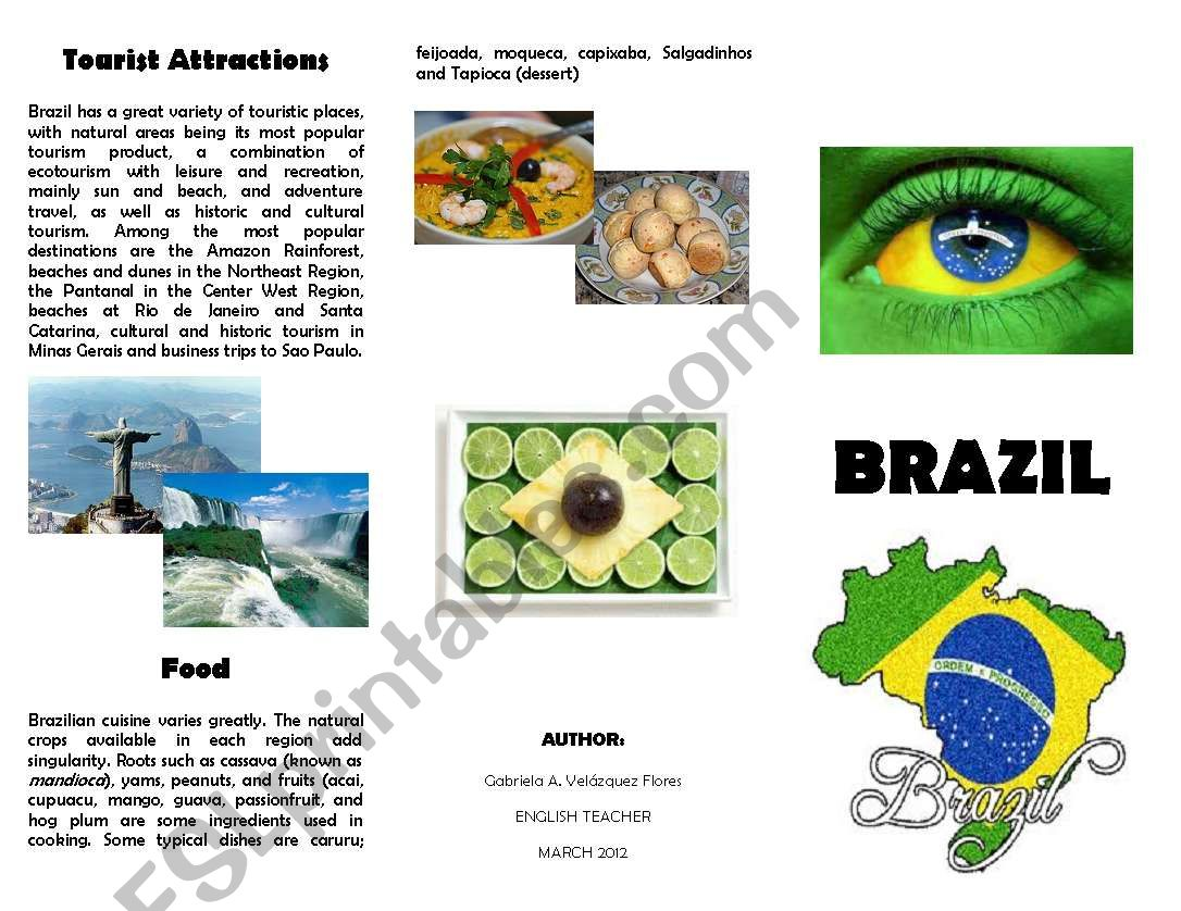 Brazil Worksheet Elementary