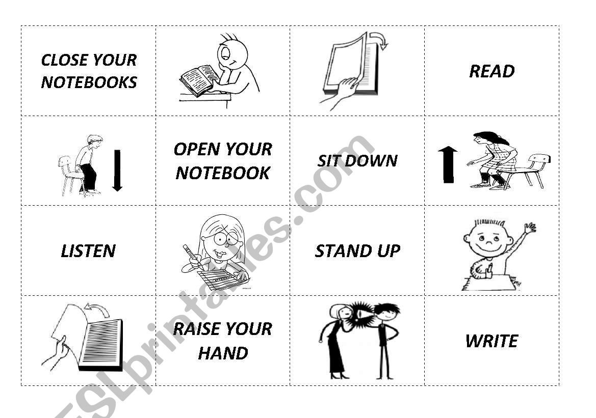 English Worksheets Cut Match And Paste
