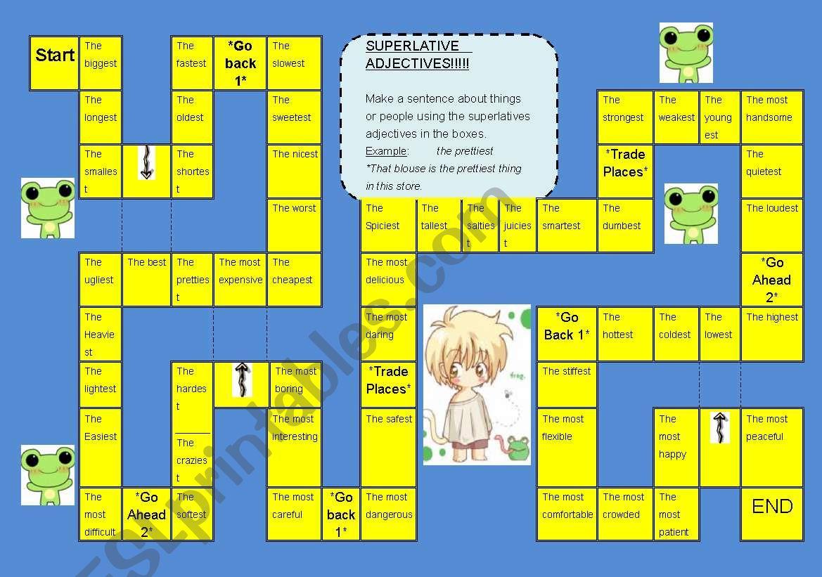 Superlative Adjective Board Game