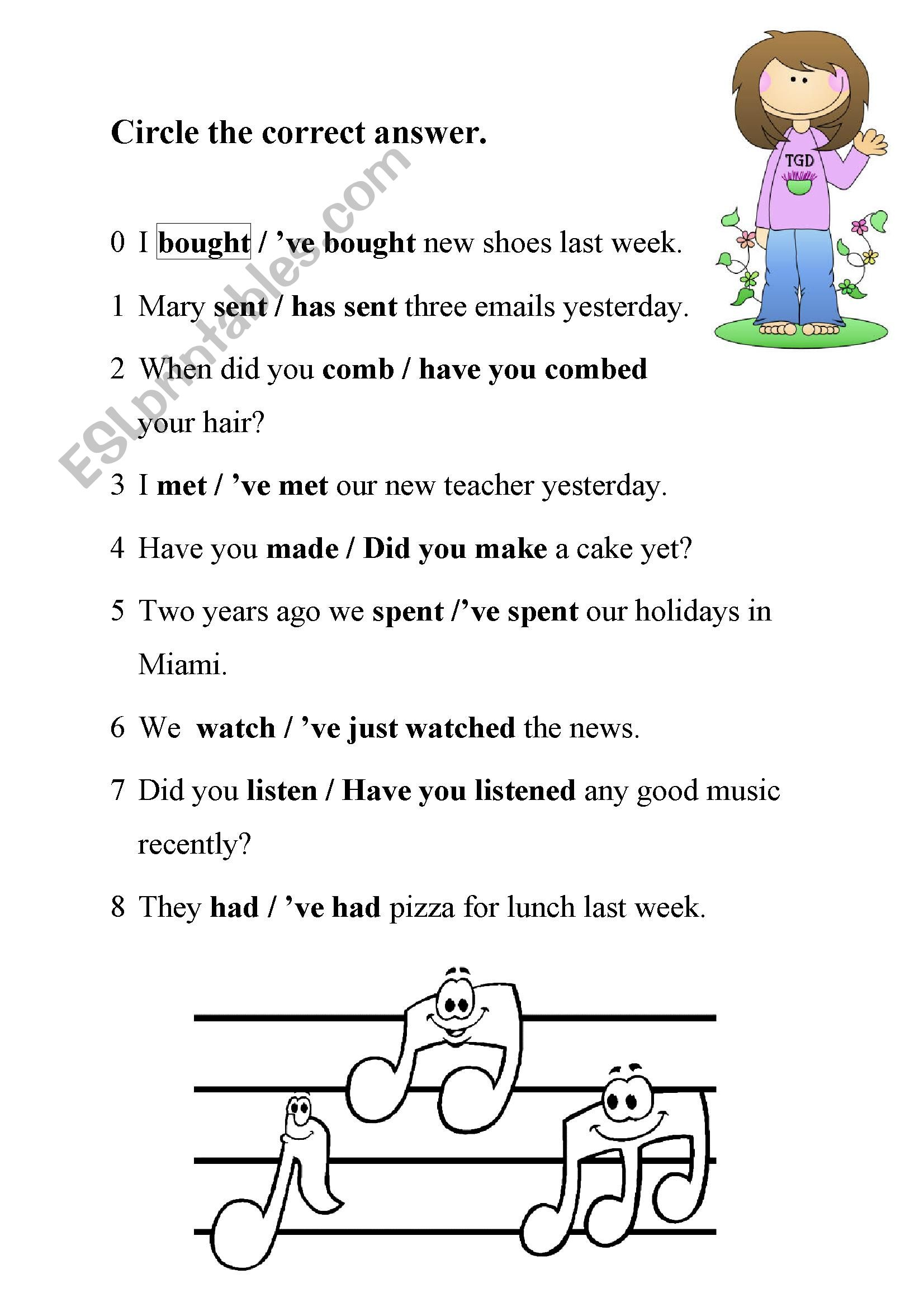 Past Tense And Perfect Tense