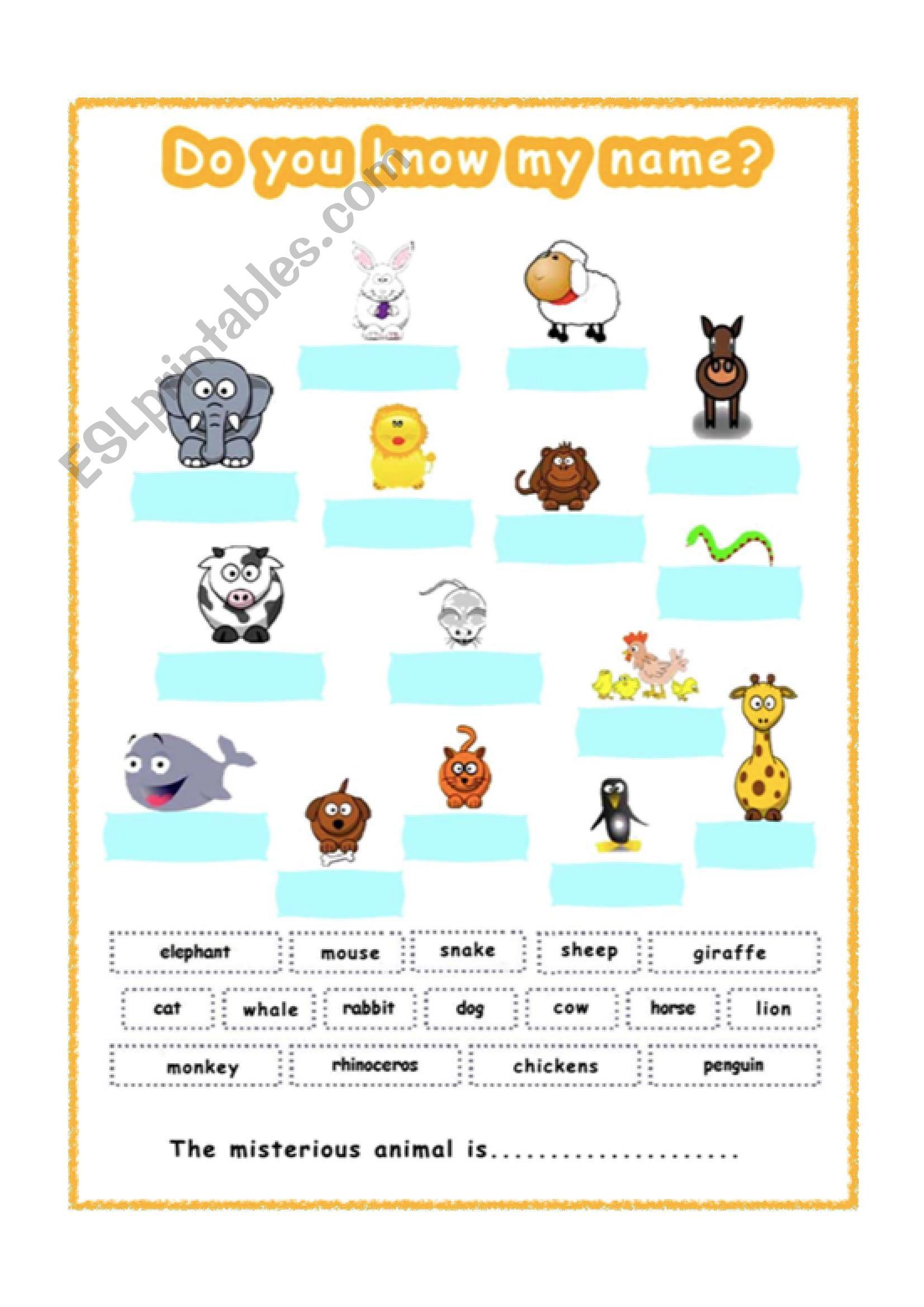 Animals Worksheets Grade 2